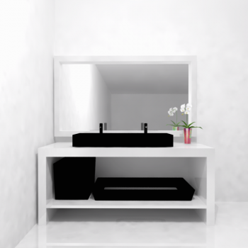 under basin shelves