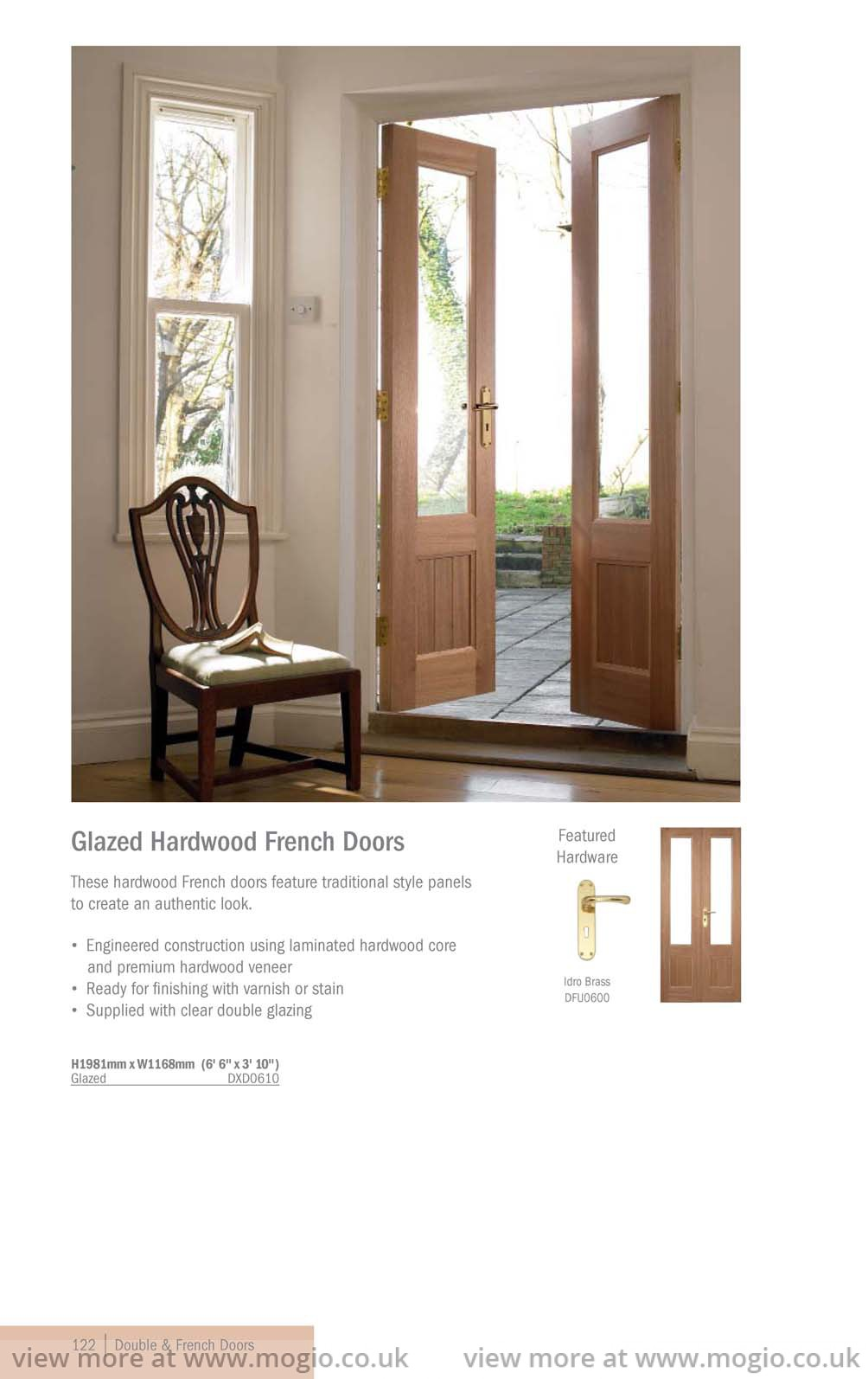Joinery collection wet rooms bathrooms fitting for Hardwood french doors