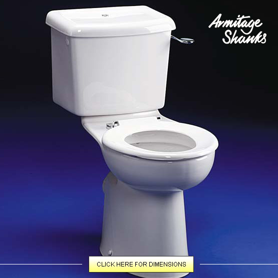 Armitage Shanks COMPLETE Ventura High Rise Toilet from the Armitage Shanks